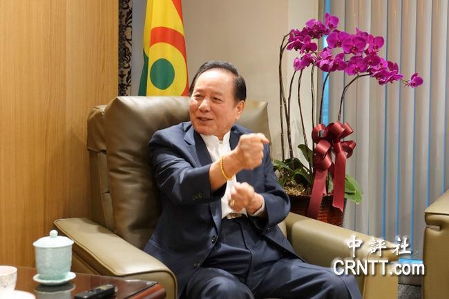 國會政黨聯盟主席悟覺妙天,分析台灣政治發展。 中評社