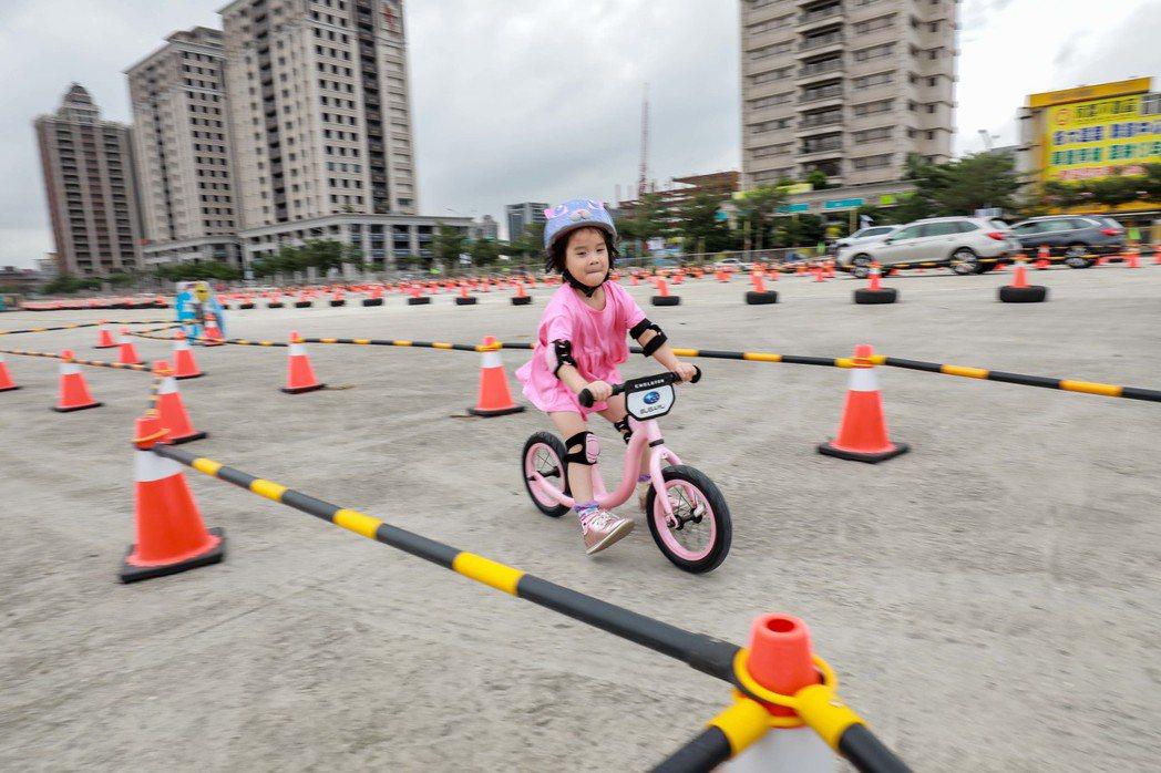 SUBARU品牌日特別打造「風格園遊會」,準備了包含兒童Push Bike闖關賽...