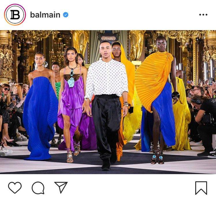 BALMAIN本季服裝以設計師本人生平為創作主題,預告紀錄片上映。圖/取自IG ...
