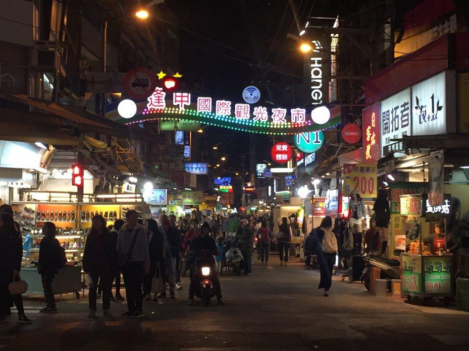 有網友稱台中市區除了逢甲夜市外,沒有其他必逛景點,很難靠觀光帶動周圍店家。圖/本報資料照