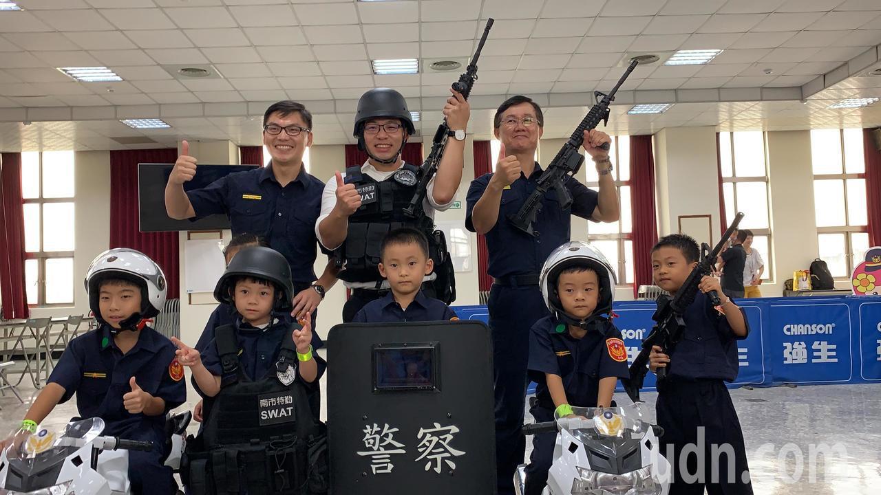 太搶手!台南小小警察體驗營安排刑案現場開箱文