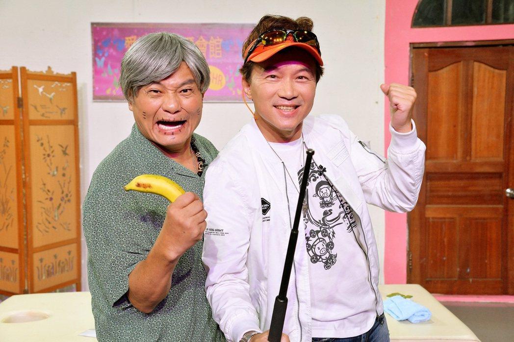 孫鵬和許效舜聯手搞笑。圖/衛視中文台提供