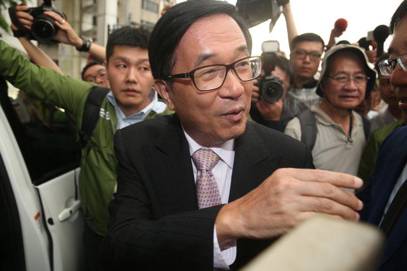 前總統陳水扁談及對「陳同佳案」的看法,表示陳同佳在台犯下殺人棄屍案,不管用什麼片面名義來台,先抓起來繩之以法就是。 聯合報系資料照片/記者曾吉松攝影