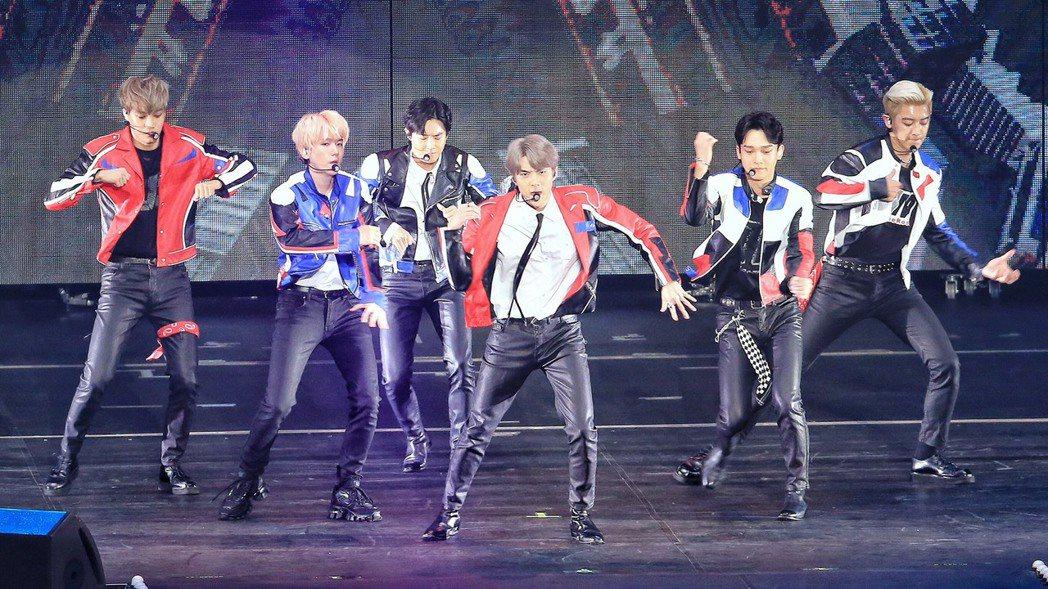 EXO舞蹈隊形重新編排。記者林伯東/攝影