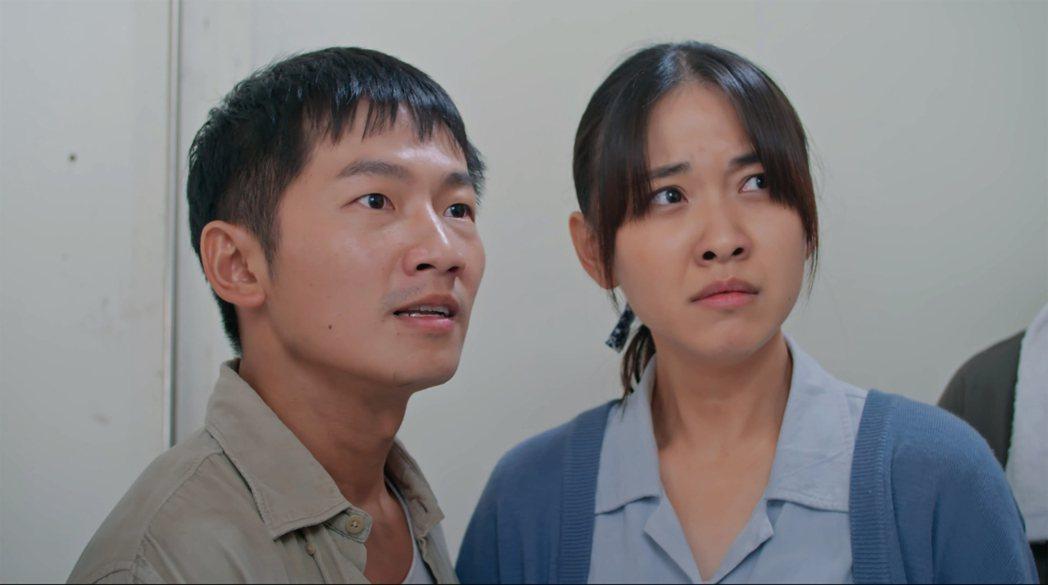 林玟誼在戲中遭惡老闆欺侮,飾演小叔的蔡昌憲出面抱不平。圖/公視提供