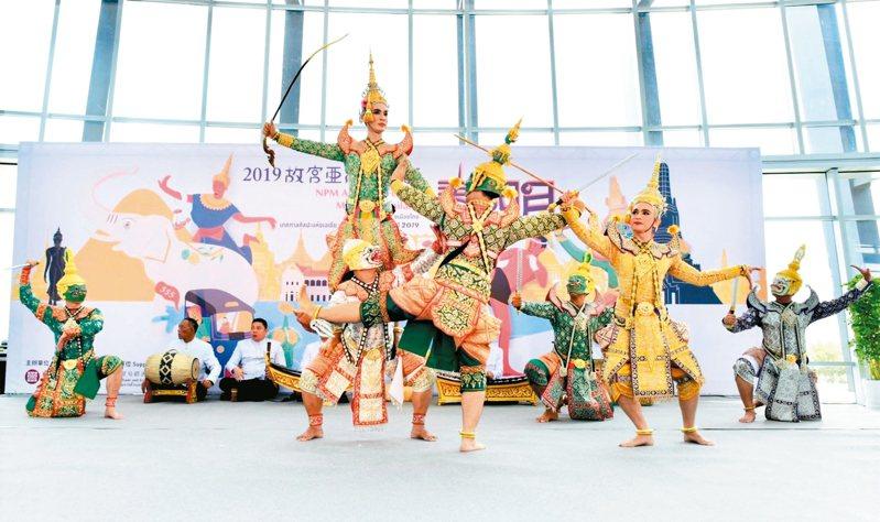 故宮南院「泰國月」昨天開幕,原汁原味泰國國粹「Khon(孔劇)」表演揭幕。 圖/故宮南院提供