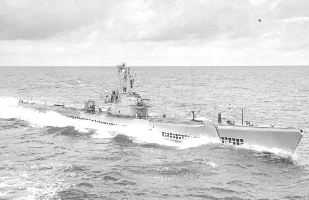 1948年的帶魚號潛艦,當時尚未接受GUPPY改良。圖/美國海軍檔案照