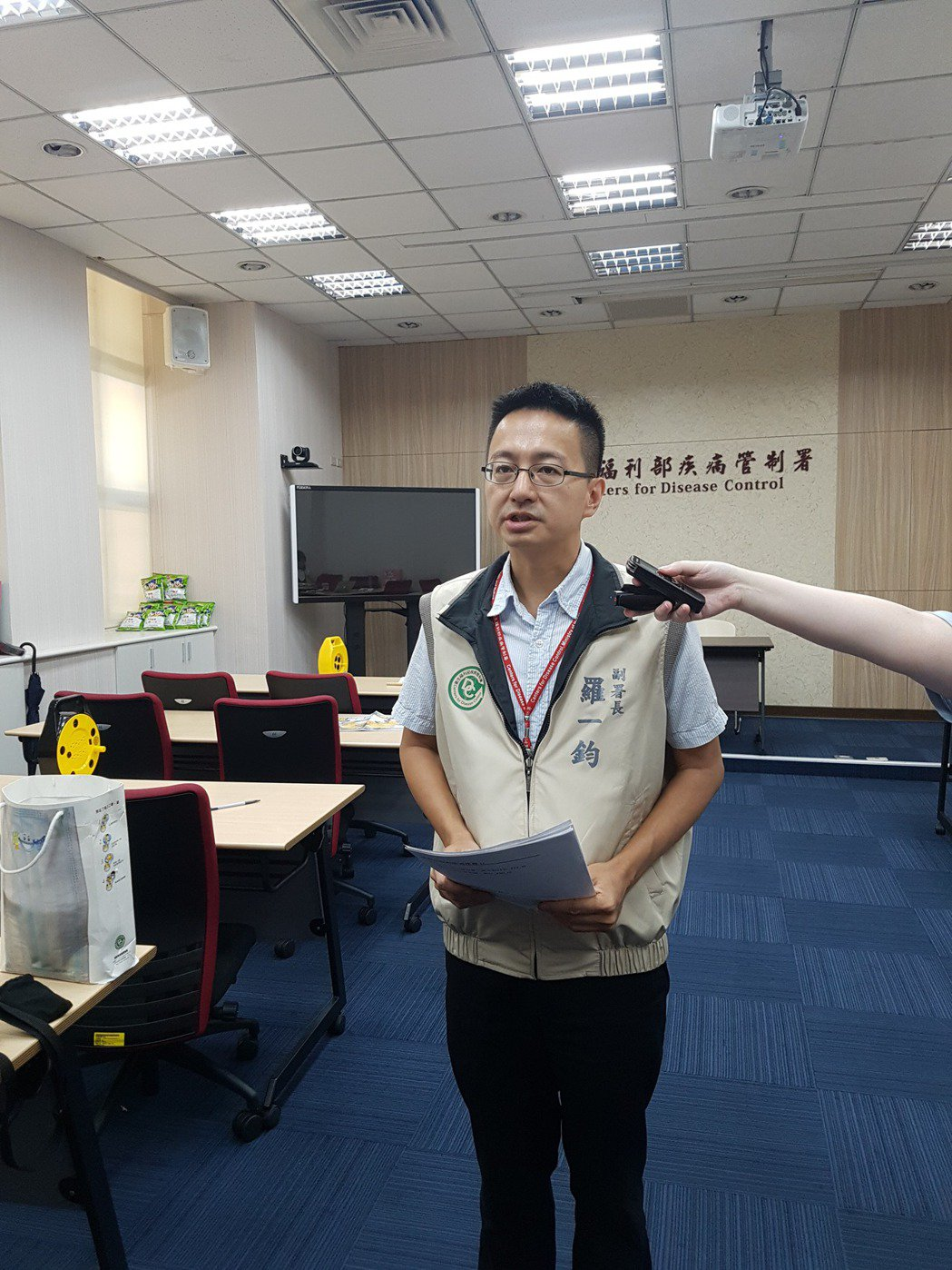 疾管署今天公布首起校園群聚。記者楊雅棠/攝影