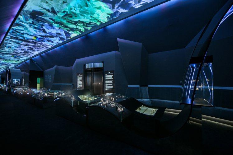 Tiffany匠心妙藝品牌展覽,分成不同區域,包括鑽石自然的奇蹟展廳。圖/Tif...