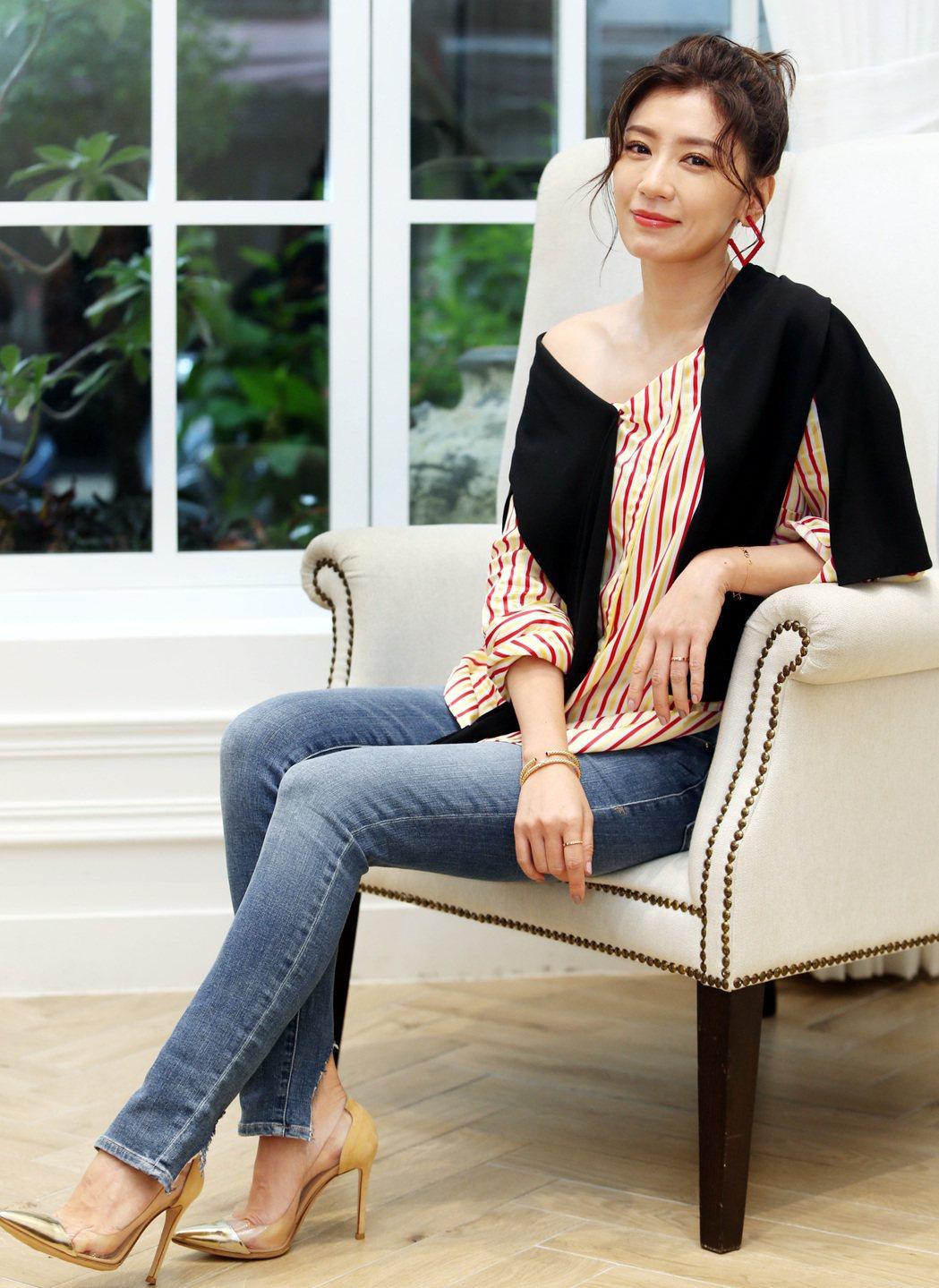賈靜雯入圍金鐘獎最佳女主角。記者侯永全/攝影