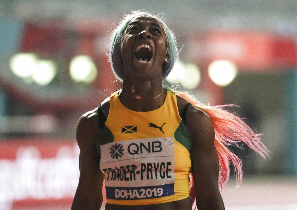 世界田徑錦標賽女子100公尺決賽,牙買加女將佛瑞塞-普萊斯以10秒71的成績勇奪...