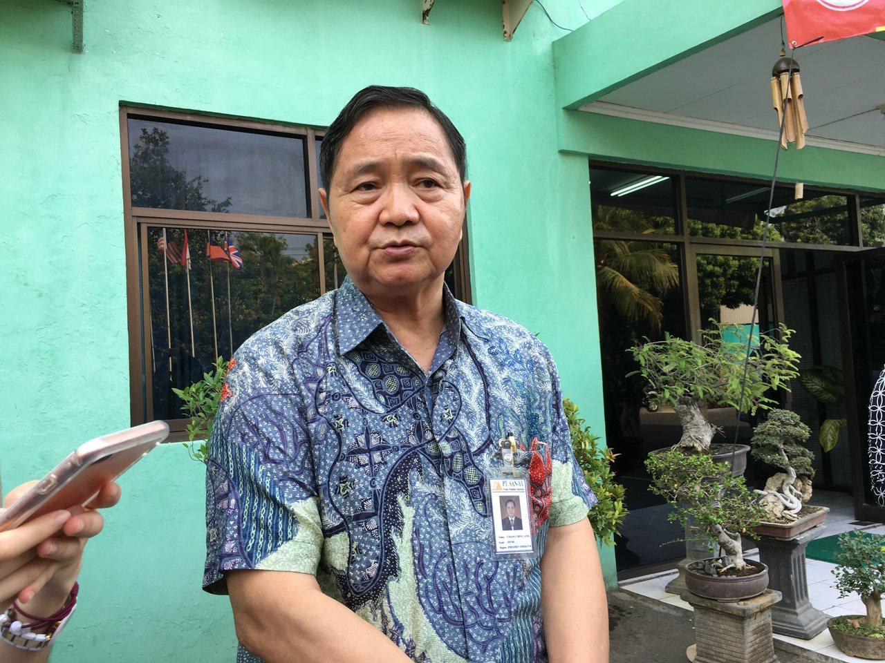 第一波南向、赴印尼中爪哇投資的聖祐木業董事長張慶隆。(江睿智攝)