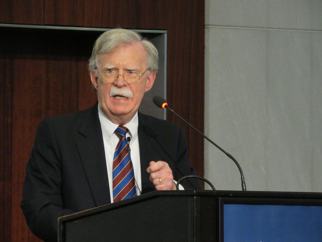 美國前國安顧問波頓30日在華府智庫談北韓、日韓關係等議題。華盛頓記者張加/攝影