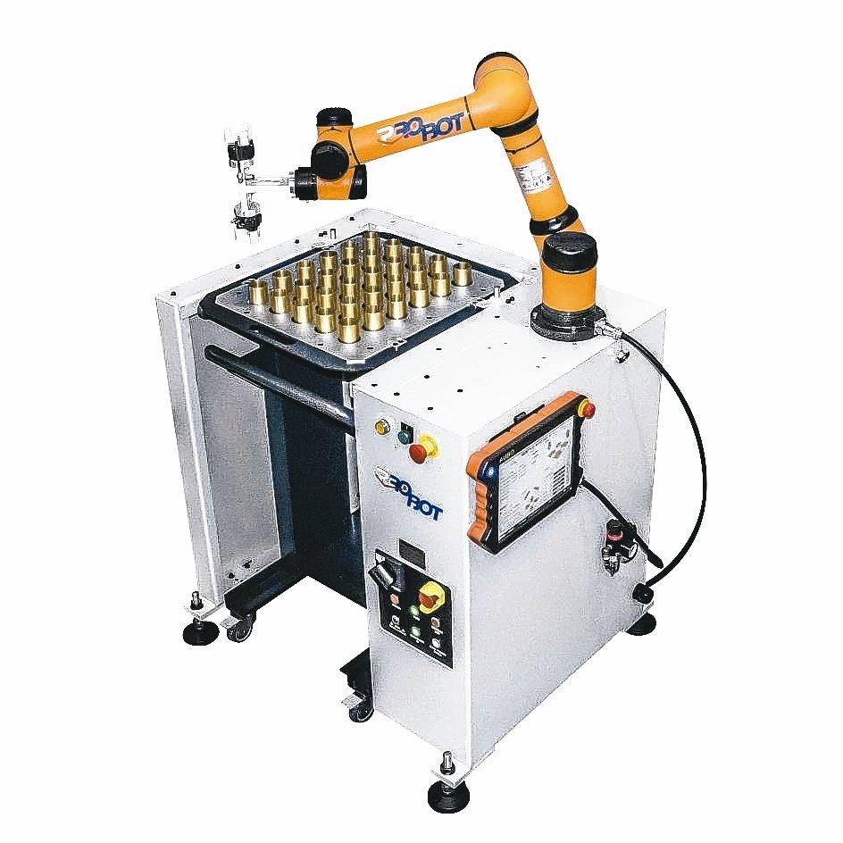 「Pro Loader」是複合式供料系統及輕便型供料臺車,結合協作型機器人,可提...