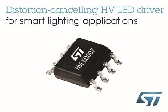 意法半導體推出低失真高壓LED驅動器,讓節能燈具迎向未來。 意法半導體/提供