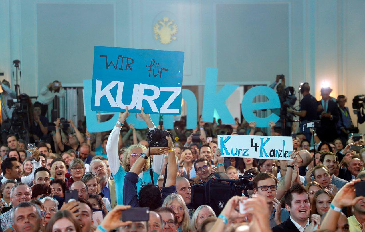 奧地利國會投票結束,根據部分開票結果的預測,前總理庫爾茨領導的人民黨得票率37%...