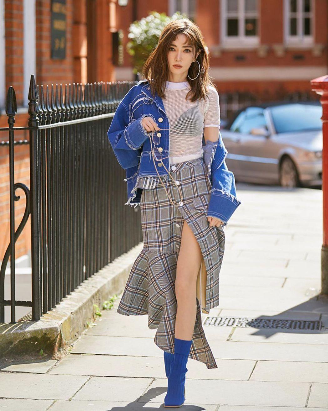 謝金燕在倫敦時裝周。 圖/擷自謝金燕IG