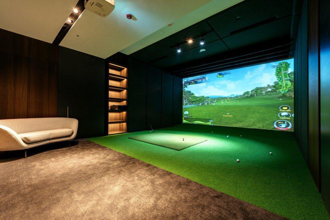 高爾夫模擬室。圖/業者提供