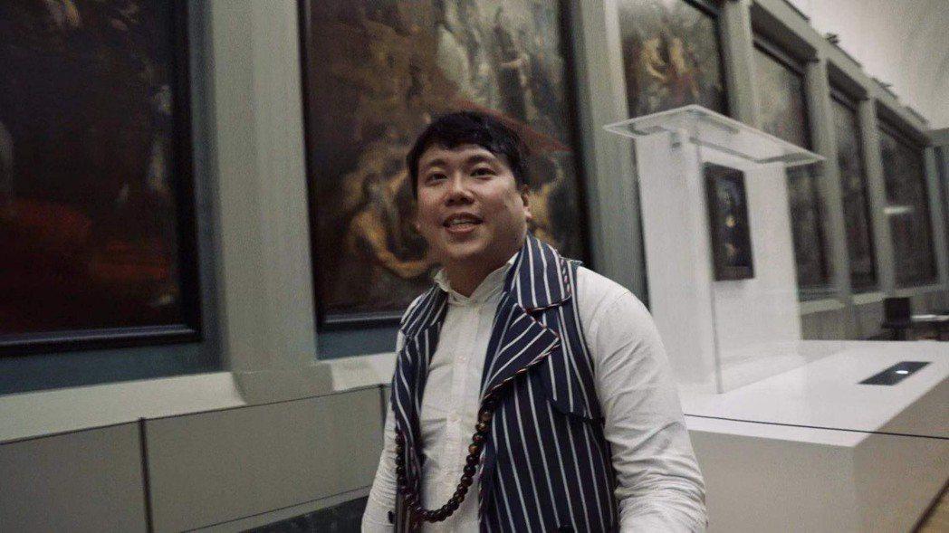 獨立設計師張暘,參與在羅浮宮閉館時尚活動。Channe Company/提供