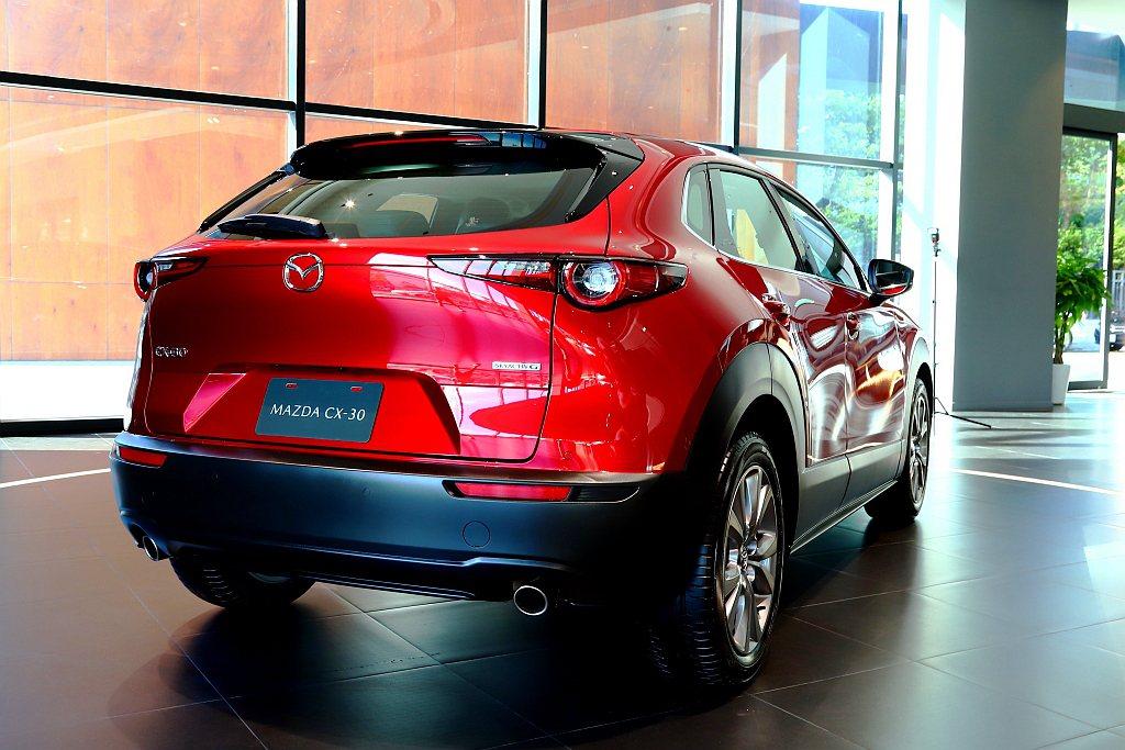 Mazda CX-30車身尺碼為長4,395mm、寬1,795mm、高1,540...
