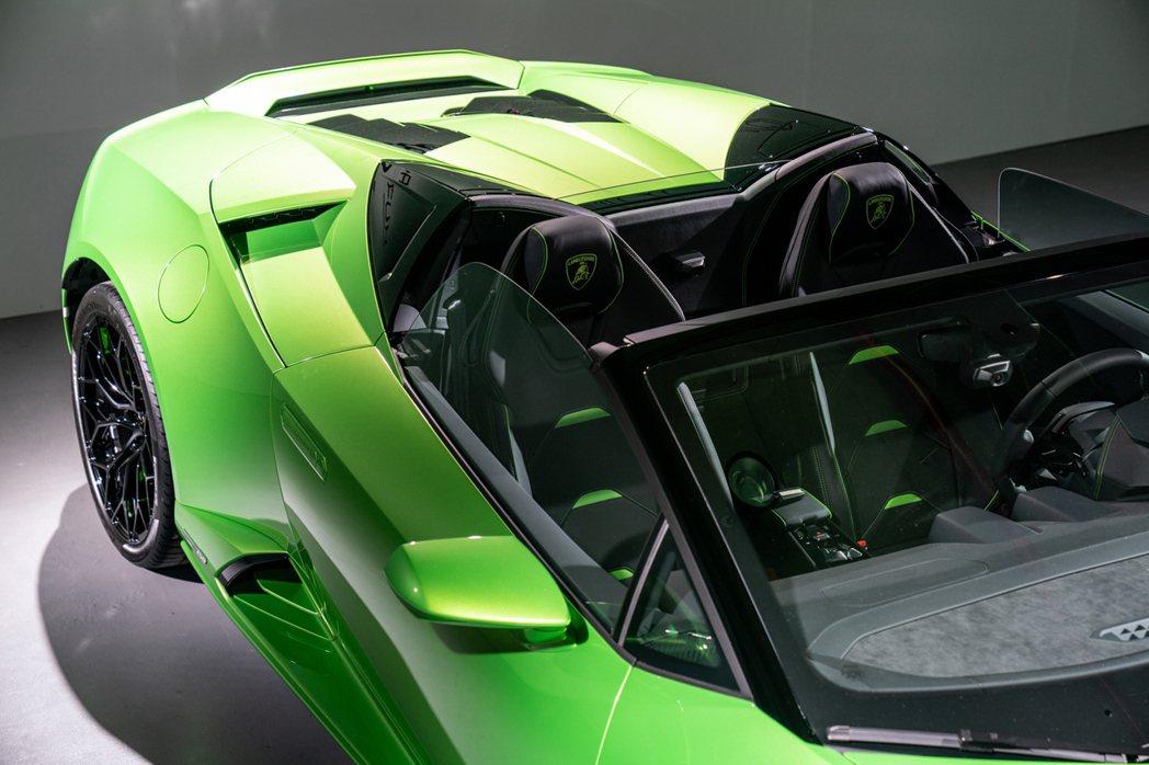 無論頂篷啟閉,提供相較前代車型5倍以上的下壓力以及空氣力學效應。 圖/Lambo...