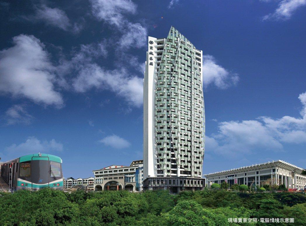 現場實景空照+電腦情境示意圖。 圖片提供/京城建設