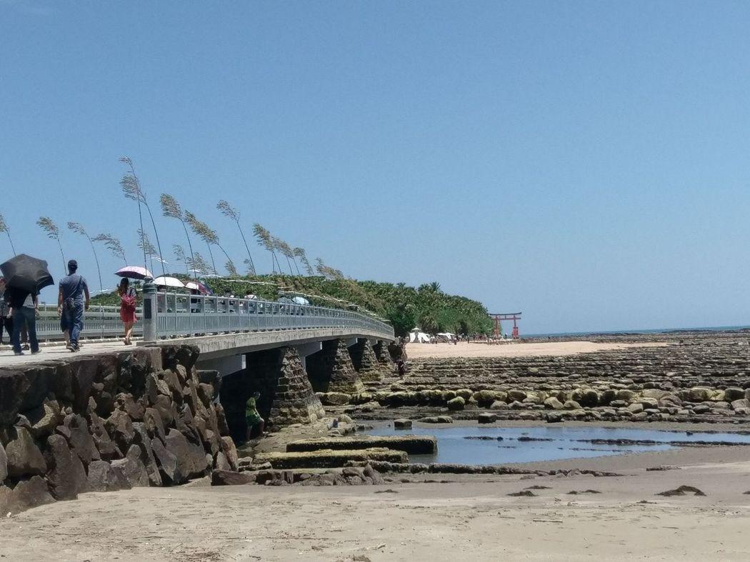 彌生橋、鬼之洗衣板與神社鳥居