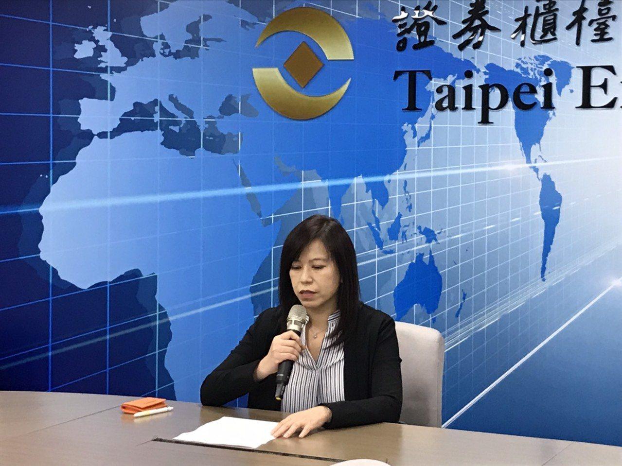 達威發言人李曉青出席重大訊息發表會,宣布公司出售福德廠建物及土地事宜。記者蔡銘仁...
