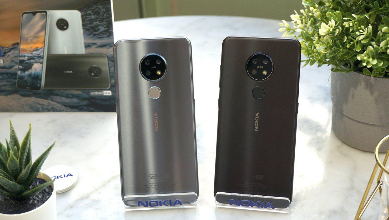 Nokia7.2單機建議售價8,990元,貓眼銀色預計於10月底開賣。記者黃筱晴...
