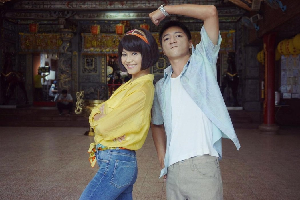 張䕒心(左)、藍葦華在「多情城市」中是一對歡喜冤家。圖/民視提供