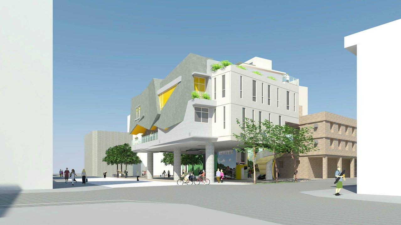 新圖書館完工示意圖。圖/新北市工務局提供