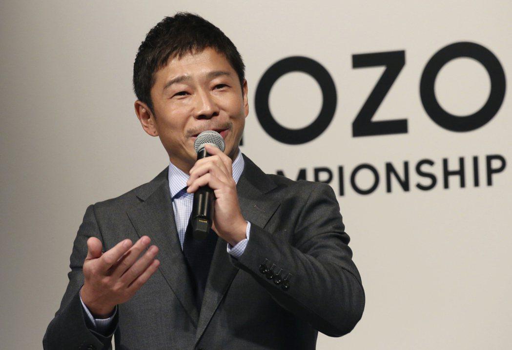 日本億萬時上網購大亨前澤友作,將成為星艦第一位太空旅客。 (美聯社)