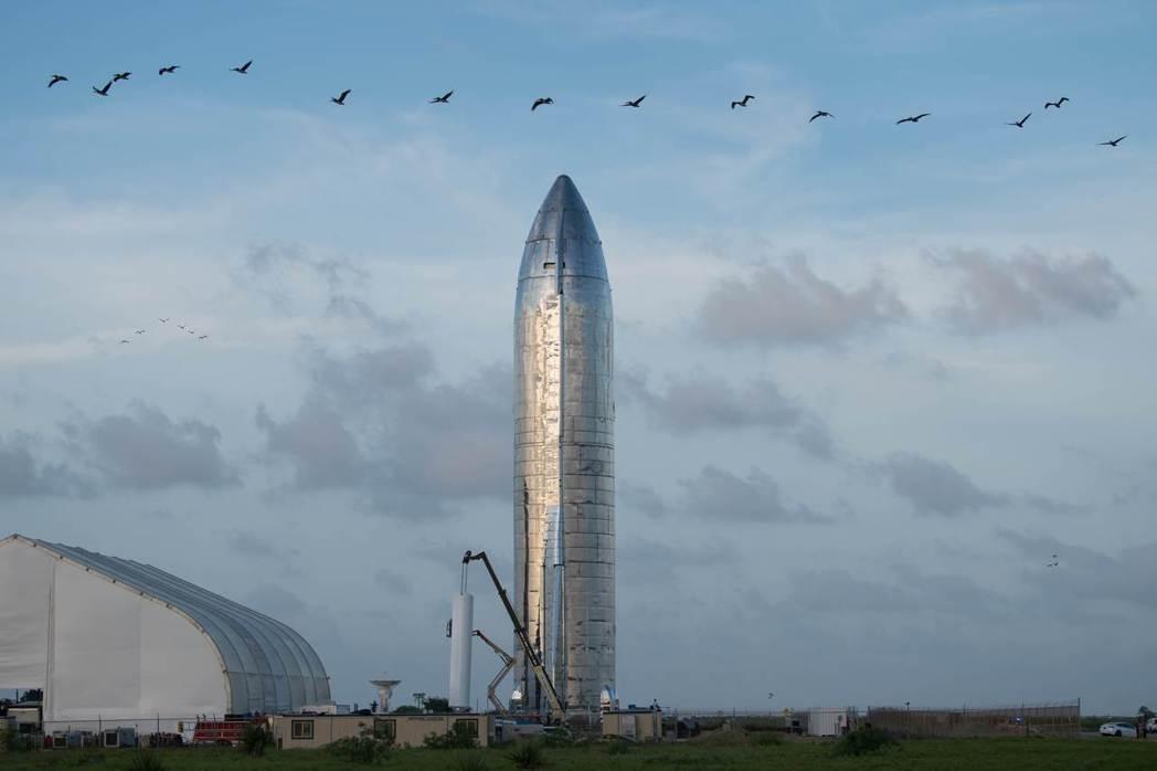 SpaceX星艦火箭原型機。 (法新社)