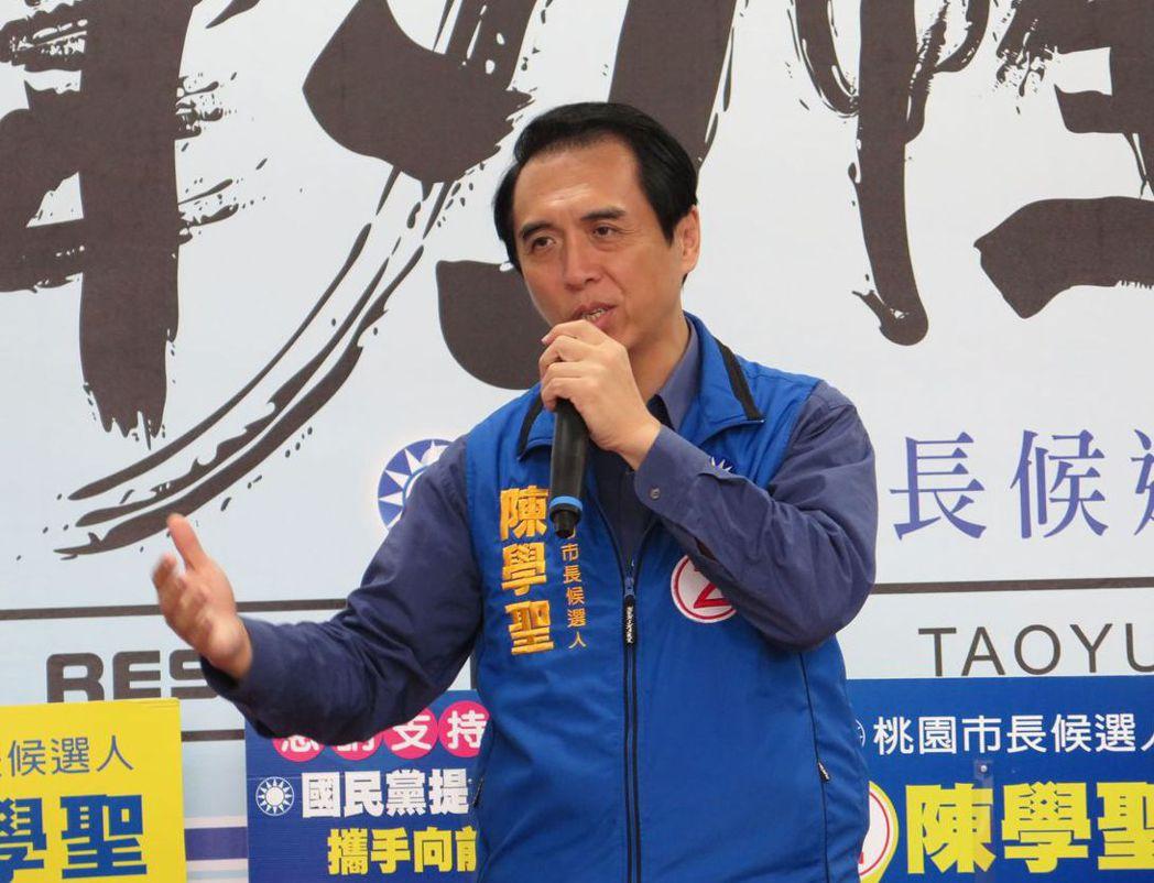 陳學聖去年參選桃園市長敗北,他後來在臉書上直言,「從沒想到被直接放生的如此徹底」...