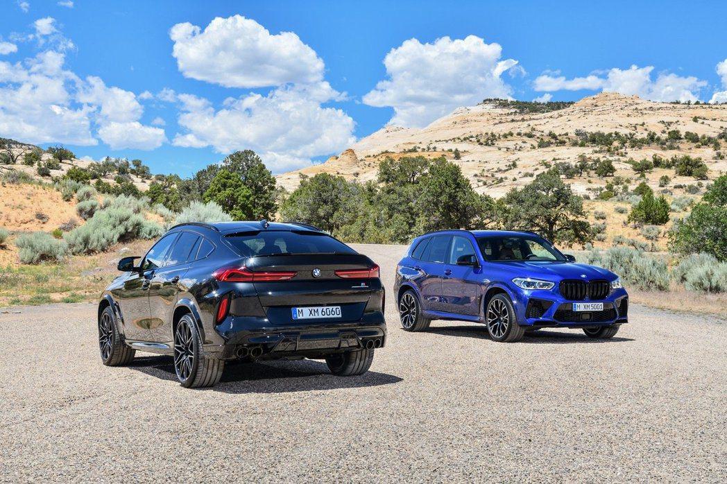 新世代BMW X5 M (F95) 與X6 M (F96)。 摘自BMW