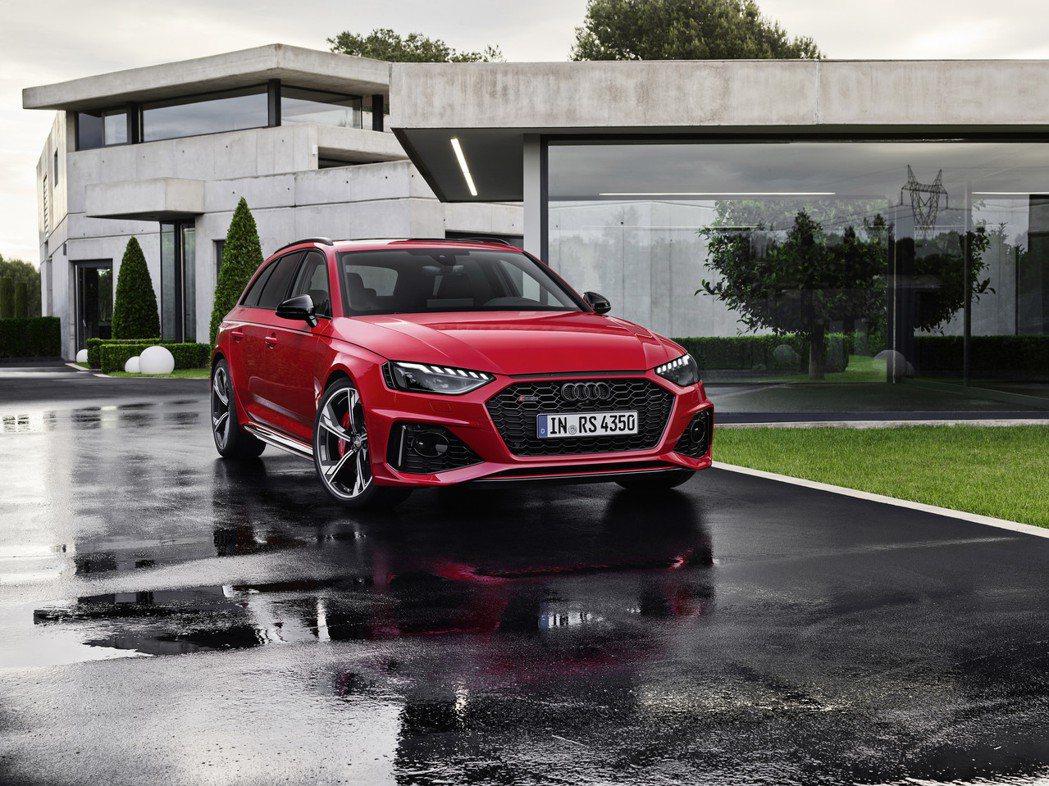 小改款Audi RS4 Avant。 摘自Audi