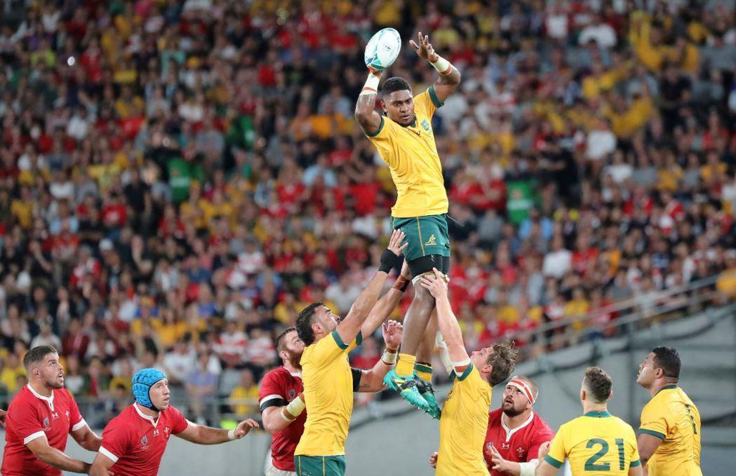 9月29日,澳大利亞出戰威爾斯,終場以25:29,威爾斯勝出。 圖/美聯社