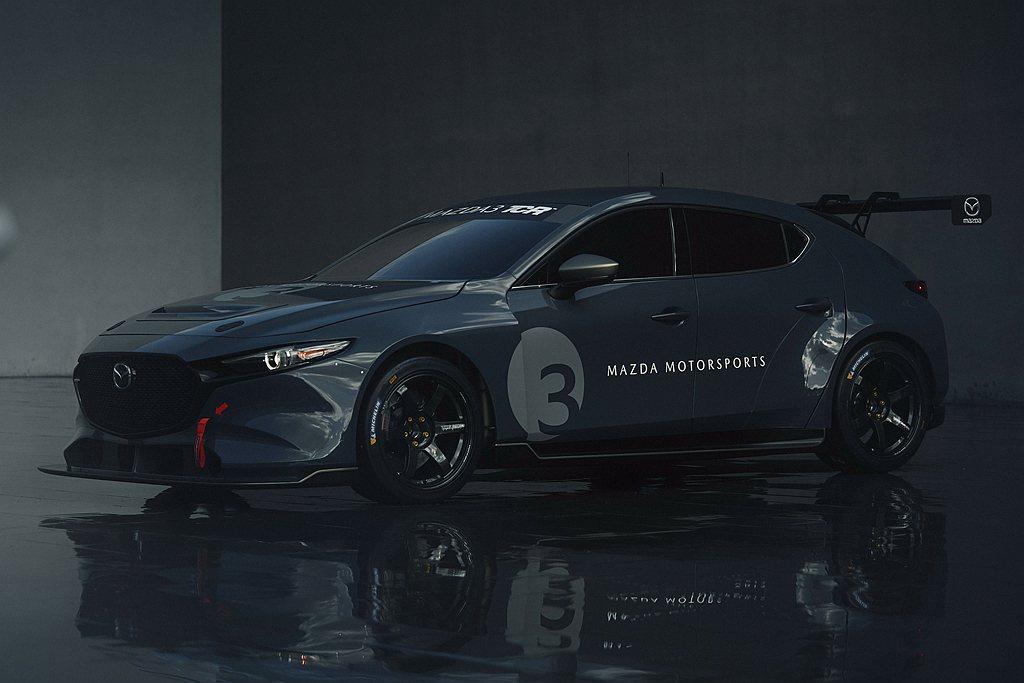 明年起Mazda 3 TCR賽車也會開放給私人車隊購買。 圖/Mazda提供