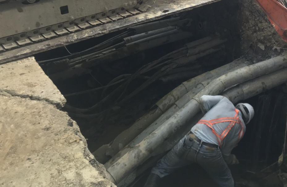 新北市水利局進行「五股區成泰路1段101及175號周邊排水改善工程」,改善排水系...