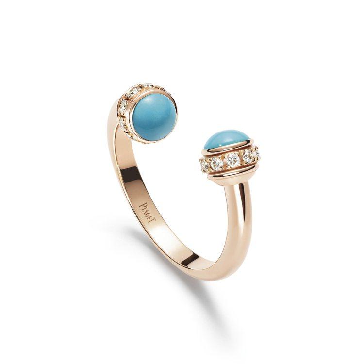 PIAGET Possession系列18K玫瑰金土耳其石鑲鑽戒指,93,000...
