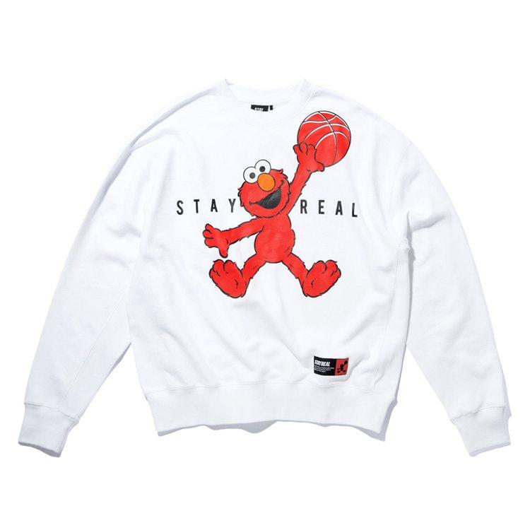 飛人Elmo厚棉T,售價2,080元。圖/STAYREAL提供