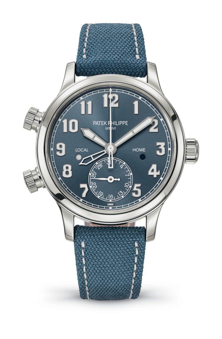 (新加坡限量款)女性的飛行錶7234A。圖/百達翡麗提供