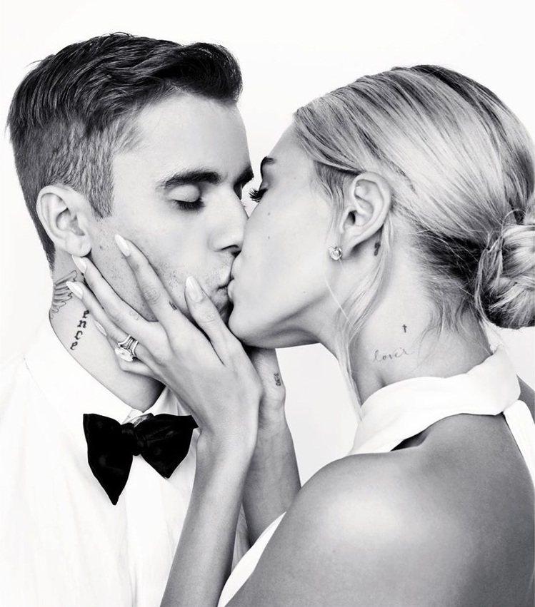 小賈斯汀與海莉結婚滿周年才補辦婚禮。圖/摘自Instagram