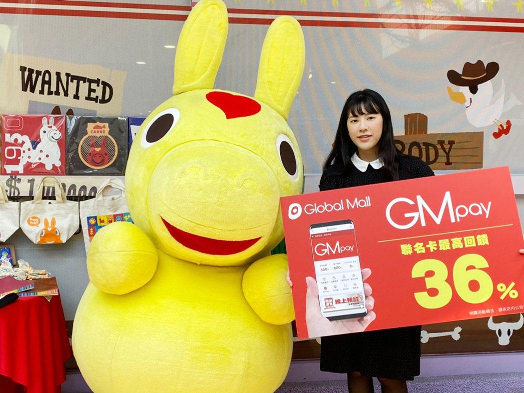 環球購物中心GM pay在周年慶上線,祭出36%高回饋催下載綁定。圖/環球購物中...