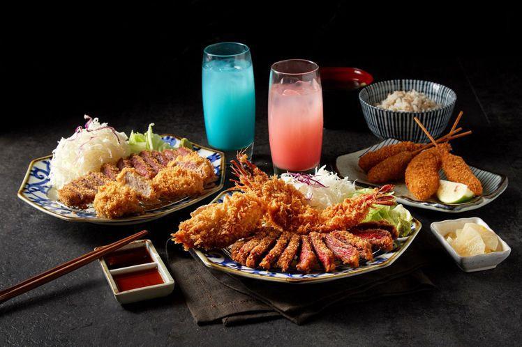海老御賞二人餐。圖/京都勝牛提供