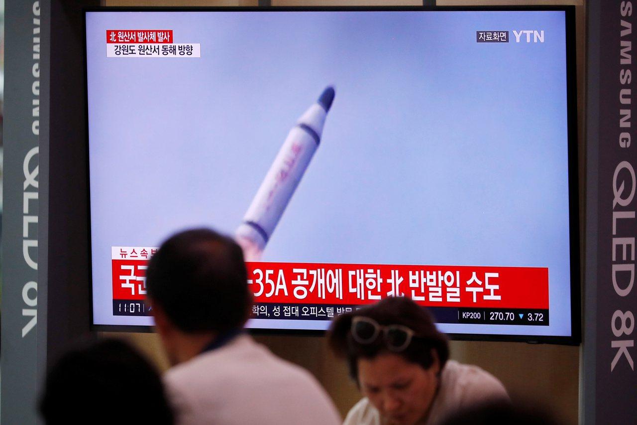 北韓2日曾試射的飛彈咸認屬於潛射彈道飛彈。路透