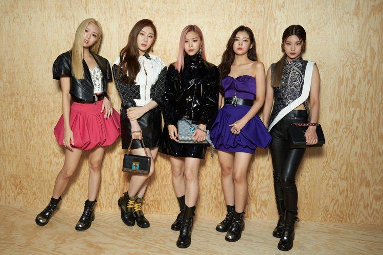 韓國女團ITZY為路易威登2020春夏女裝秀帶來青春氣息。圖/LV提供