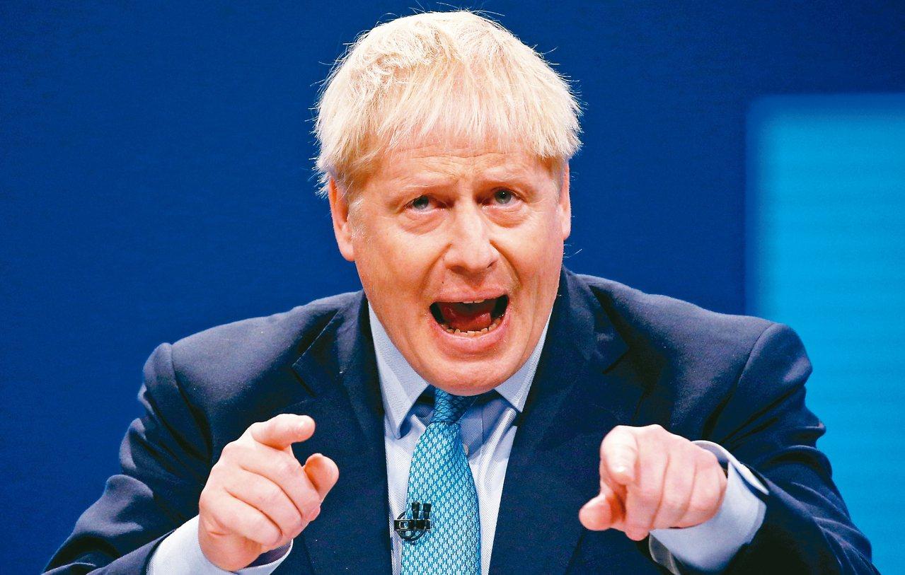 英國首相強生。 路透