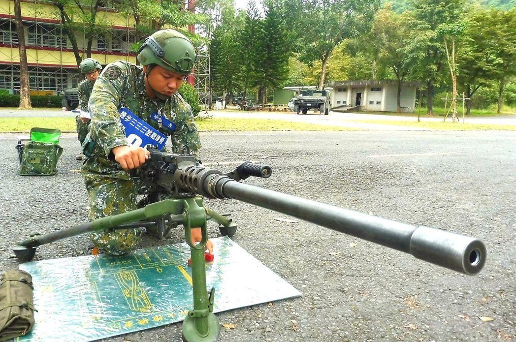 M2重機槍至今廣泛在國軍、美軍與其他多國軍中服役。圖/軍聞社