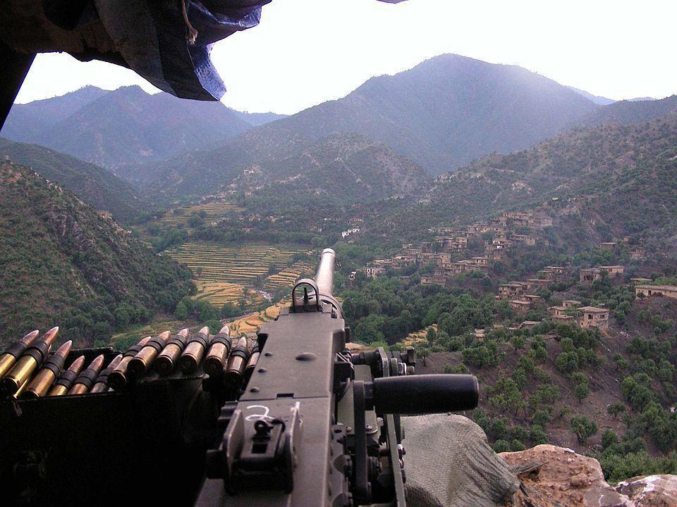 在阿富汗作戰的五○機槍。圖/翻攝自維基
